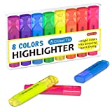 Highlighters, Shuttle Art 8 Assorted Colors Highlighter Pens, Chisel Tip Dry-Quickly Non-Toxic Highlighter Markers for Adults Kids Highlighting in the Home School Office