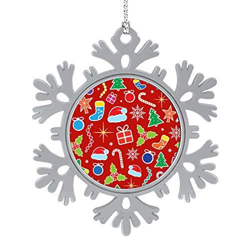 DESPKON Snowflake Pendant Christmas Christmas Snowflake Funny Ornaments Perfect for Decorating Christmas Trees 2 Inch