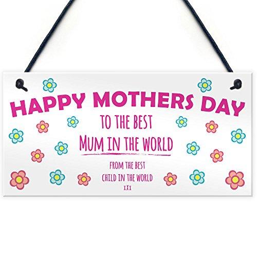 RED OCEAN Handmade Cute Cheeky Hanging Plaque For Mummy/Mum Keepsake