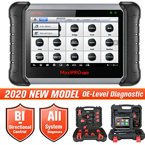 Autel MaxiPRO MP808K Automotive Diagnostic Scan Tool, 2020 Newest Upgraded Ver. of MP808, Same as MS906, Key Coding, Bi-Directional, All Systems Diagnostics, Auto VIN, Oil Reset,EPB, SAS, DPF, BMS