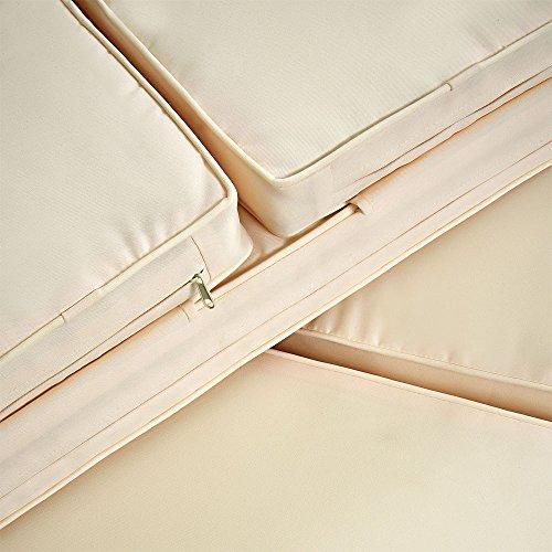 Deuba Poly Rattan Lounge Sofa 2 Sitzer Sitztruhe mit Stauraum Dicke Auflagen Relaxliege Sonnenliege Couch Set Schwarz - 5