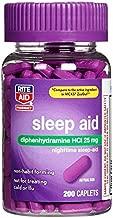 Rite Aid Sleep Aid Caplets, Diphenhydramine HCl, 25mg - 200 Count | Sleep Relief