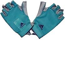 Adidas Half Finger Gloves for Unisex, Turquoise - M