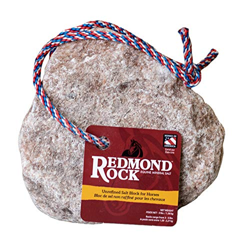 REDMOND - Rock on a Rope Unrefined Salt Rock for Horses; 3 to 5 lbs- …