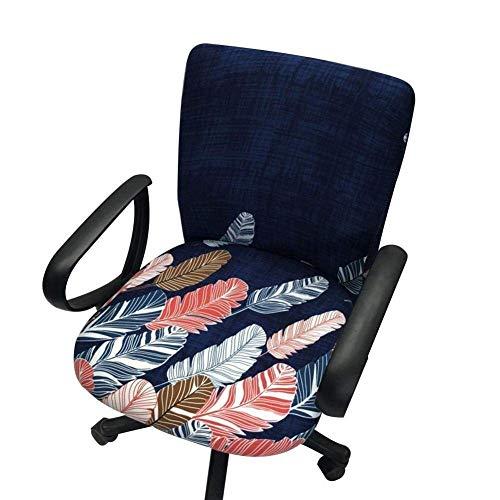 Computer-Bürostuhl-Abdeckung, Split-Schutz, dehnbarer Stoff, Polyester, universeller Schreibtischstuhl, Drehstuhl-Überzug, Stretch-Schonbezug