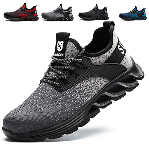 SUADEX Steel Toe Shoes for Men Women Indestructible Work Shoes Lightweight Comfortable...