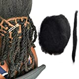 Yotchoi Tight Afro Kinky Human Hair,Ideal for Making or Repairing Permanent Dreadlocks ,Twists and Braids 4 Bundles/Package Natural Black #1B 8inch/20.32cm