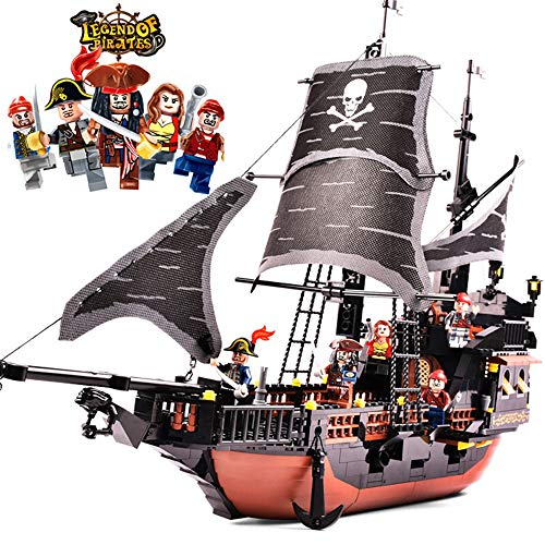 Black Pearl Pirate Ship Model Building Block Set Barco Grande Rompecabezas 3D DIY Puzzle Toys Modelo De Plástico De Partículas Pequeñas Adecuado for Niños Mayores De 6 Años Regalo De Cumpleaños