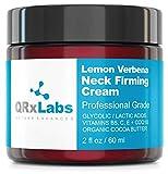 Lemon Verbena Neck Firming Cream – Tightening & Lifting Moisturizer for Loose, Wrinkled or Sagging Skin on Neck, Decollete & Chest – Best to Prevent Turkey/Crepe Neck – 2 fl oz