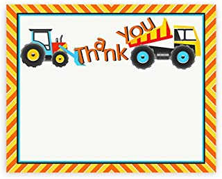 POP parties Construction Party Thank You Cards - 10 Thank You Cards + 10 Envelopes