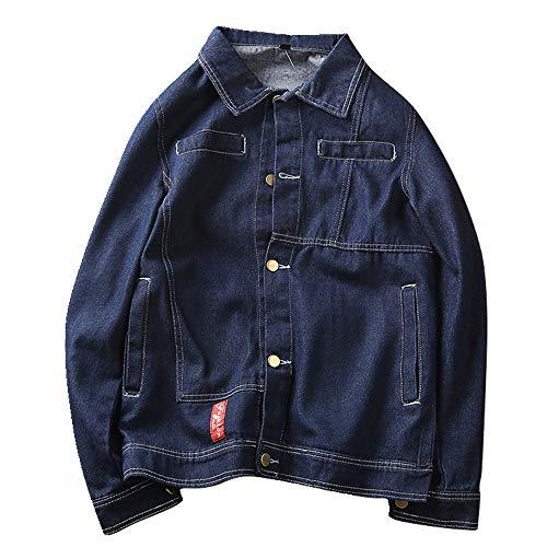 Nobrand, giacca casual da uomo in denim Blu M