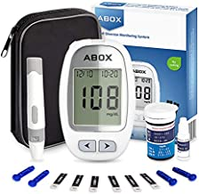Blood Glucose Monitoring Kit, ABOX Diabetes Testing Kit Glucose Meter Kit with with 25 Test Strips, 25 Lancets and Everything You Need to Test Blood Sugar Level