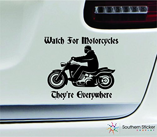 Watch for Motorcycles 7x8.1 Black Awareness Safety...