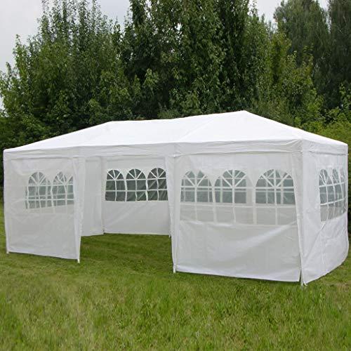 hhin Pavillon 3x6m, mit 8 Seitenwänden,weiß