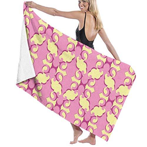 Toallas Shower Towels Beach Towels Bathroom Towels Toalla De Baño Toallas de baño para piscina Retro Swirl Line Toalla 130 x 80 CM