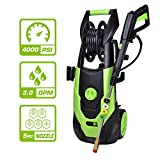 PowRyte Elite 4000PSI 3.0 GPM Electric Pressure Washer, Electric Power Washer with 5 Quick-Connect Spray Tips,Car Washer with Hose Reel