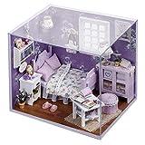 DIY Hütte handmontierte realistische Miniatur kleines Haus Kabine Modell für Geburtstagsgeschenk...