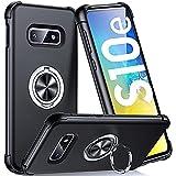 Supdeal Compatible con Funda Samsung Galaxy S10E (5,8'), Carcasa Posee Anillo Magnético Prueba de Golpes de 360 Grados Resistente Rayones, Protección Cubierta del Soporte, Negro