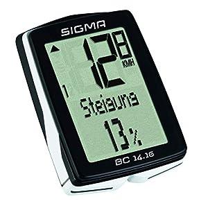 Sigma 01416 Ciclocomputador, Unisex Adulto, Negro, Talla Única