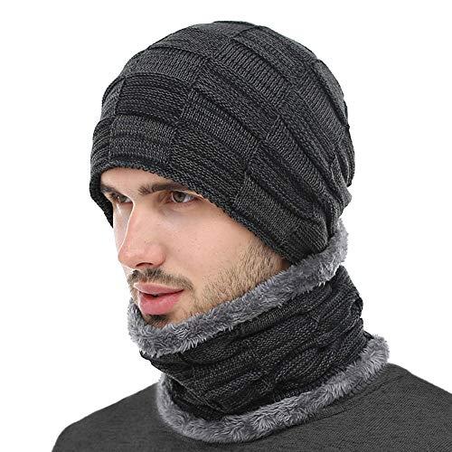 BOYOU Unisex Hombres/Mujeres Invierno Cálido Sombrero de Punto Al Aire Libre de Felpa Engrosamiento Gorro de Punto Sombrero de Esquí para el Invierno (Ropa)