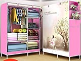 Perfect guest accessory / spare bedroom, University students, caravan Clothes can either be hung on a long hanging rail, or folded to fit on any side shelf. Easy to wipe and maintain, super large capacity! Keep your home neat and organized More space...
