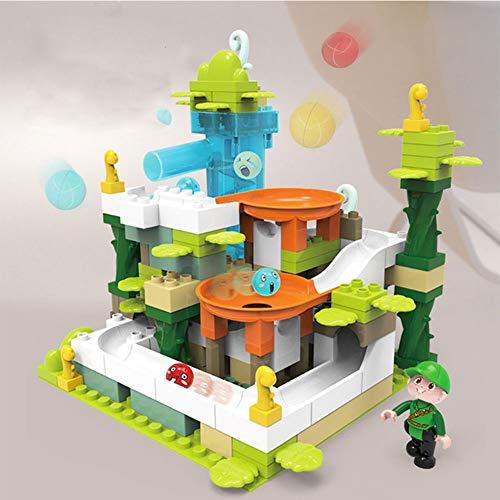 LHTY Kinder Architektur Simulation Lernspielzeug Set, Elektrotrack Rutschball Zusammengesetzt Stapeln Lernspielzeug, Intelligenz Aktivität Spielzeug für 6 Jahre alt