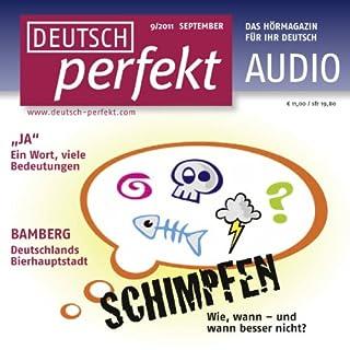 Deutsch perfekt Audio - Schimpfen auf Deutsch. 9/2011 Titelbild
