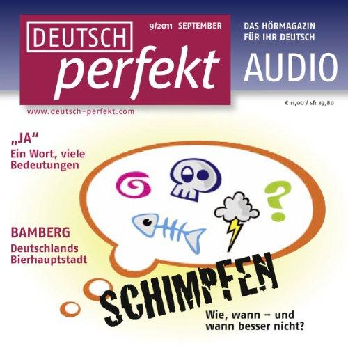 Deutsch perfekt Audio - Schimpfen auf Deutsch. 9/2011 cover art