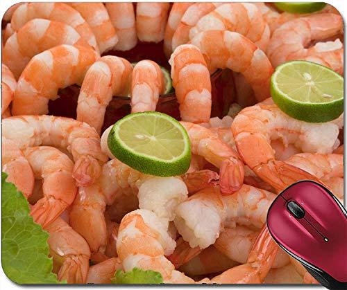 Mousepad Gourmet Large Shrimp Cocktail mit Cocktail Sauce Limette und Salat