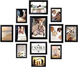 Picture Frames Set for Wall Collage - 12 Pack Family Photo Frames Black Including One 8x10 / Four...