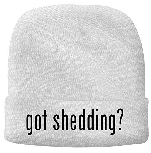 BH Cool Designs got Shedding? - Men's Soft & Comfortable Beanie Hat Cap, White, One Size