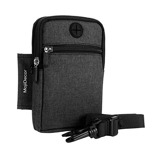 MojiDecor Hüfttasche Handytasche Bauchtasche Gürteltasche Taillepäckchen Handyhülle mit Gürtel Schlaufe für Smart Phones bis 6,3 inch iPhone 7s Plus/iPhone 6/S6 (Modell 1)