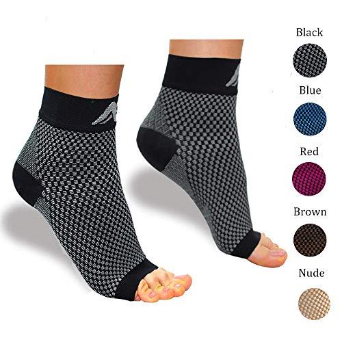 Sooverki Kompressionssocken Fußbandage Kompressionsstrümpfe/kompressionssocke für Männer & Frauen-Laufen & Sport oder Unterstützung Schmerzlinderung bei Plantarfasziitis, Knöchelschmerzen …