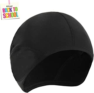 Cycling Fleece Skull Cap Beanie Helmet Liner Bicycle Breathable Cap for Running, Hiking, Skiing and Winter Outdoor Sports