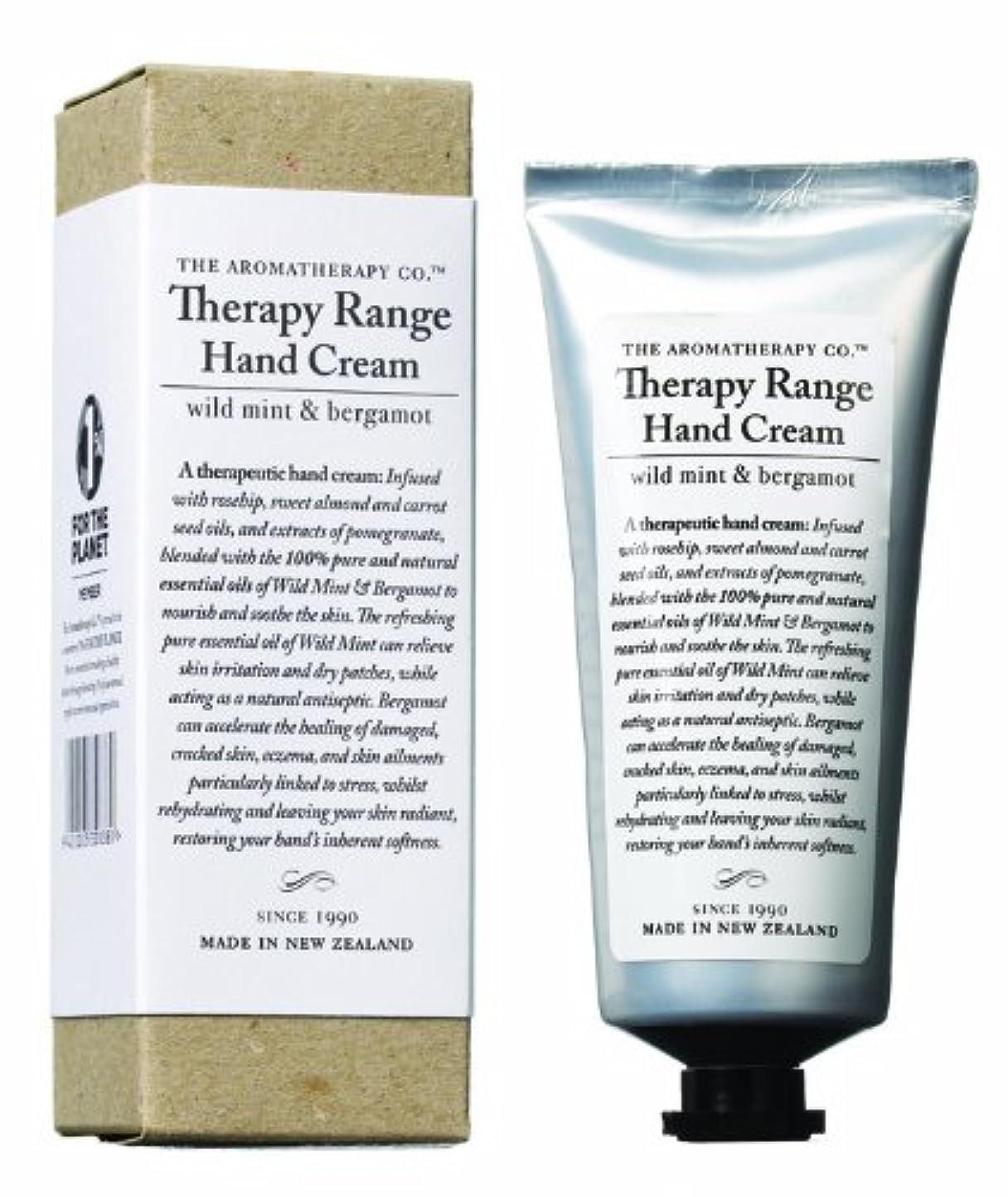 階層志す眩惑するアロマセラピーカンパニー Therapy Range セラピーレンジ ナリシングハンドクリーム ワイルドミント&ベルガモット