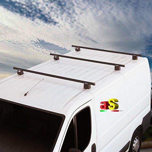 autoSHOP Kit de 3 barras portaequipajes Vivaro con sistema antirrobo para furgonetas de vehículos comerciales