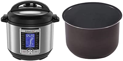 Instant Pot Ultra 60 Ultra 6 Qt 10-in-1 Multi- Use Programmable Pressure Cooker, Stainless Steel/Black & Ceramic Inner Cooking Pot - 6 Quart
