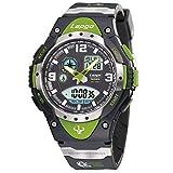 Farsler da uomo 100metri impermeabile Outdoor Sport, conto alla rovescia Calendario Sveglia al quarzo elettronico luminoso grande quadrante orologi orologi da polso (colore: verde)