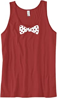 Cybertela Men's White Polka Dot Bow Tie Tank Top