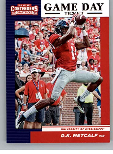 2019 Panini Contenders Draft Tickets Game Day Tickets #30 D.K. Metcalf Ole Miss Rebels RC Rookie NCAA Football Trading Card