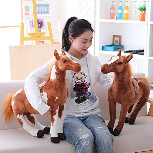 Homeofying 3D Simulation Pferd Tier Plüsch Gefüllte Puppe Kinder Spielzeug Raumdekor Foto Requisiten Nordic Plüsch Stofftier 4# 50cm