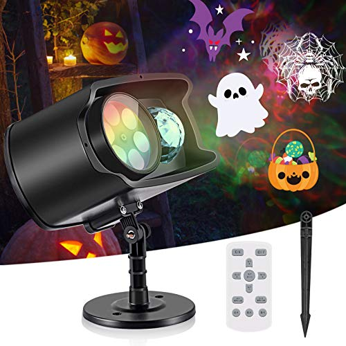 Halloween Christmas Projector Lights,No Slides Needed,AGPTEK 2-in-1 Water Wave & Moving Patterns Projector Lights,for Outdoor Indoor Holiday Party Decoration