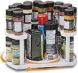 2 niveles perezoso Susan plato giratorio de cocina para especias organizador de especias giratorio estante organizador de condimentos giratorio para especias para armarios
