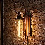 BJLWTQ Lámpara de luz de pared, Apliques minimalistas de pared Luces de pared Luces personalizado, luces de pared exterior, al aire libre Villa apliques, Patio de Luces impermeables apliques, Hotel Vi