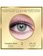 Dahab Lumirere Hazel Contact Lenses, Unisex Dahab Cosmetic Contact Lenses Light Honey Color