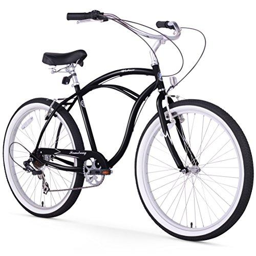 Firmstrong Urban Man Seven Speed Beach Cruiser Bicycle, 26-Inch, Black