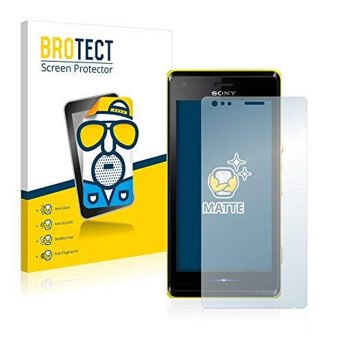BROTECT 2X Entspiegelungs-Schutzfolie kompatibel mit Sony Xperia M C1904 / C1905 Bildschirmschutz-Folie Matt, Anti-Reflex, Anti-Fingerprint