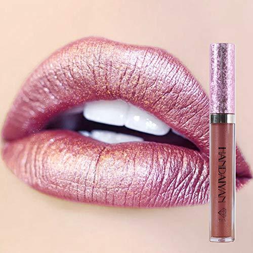 Saws Brillante Lipgloss Labial Brillante Duración Impermeable Líquido Lápiz Labial Maquillaje Cosmético Antiadherente Taza # 3 0322