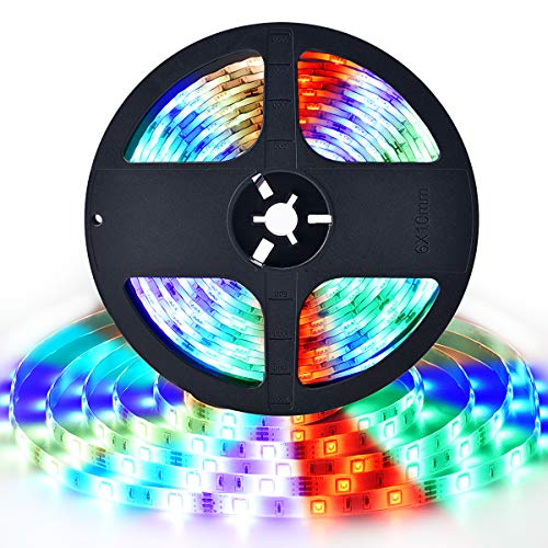 LED Strip Lights 164ft Color Changing RGB LED Light Strip with Remote for Room Bedroom Party Christmas Decoration