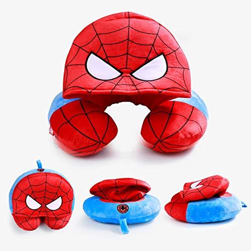 Almohada de Viaje Dibujos Animados Marvel Genuina Vengadores Estados Unidos Capitán Iron Man Spider-Hombre con Capucha U-Pillow Hombres Oficina De Los Hombres Cuello Cuello